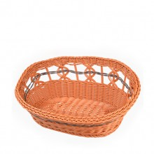 Pure Hand-woven Red-brown Rattan-woven Pet Nest