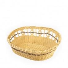 Pure Hand-woven Creamy-white Rattan-woven Pet Nest