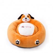 Orange Puppy Round Pet Nest