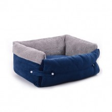 Blue-gray Clamshell Multi-function Pet Nest