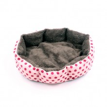 Pink Polka Dot Octagon Cotton Pet Nest