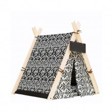 Black White Pet Cat Dog Small Tent (Contains Mat)