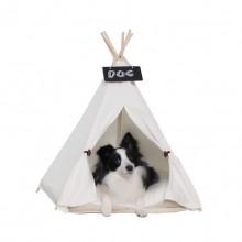 White Cotton Canvas Pet Tent (Contain Mat)
