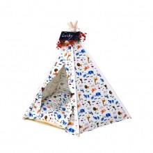 Fairy Tale Animal World Cotton Pet Indian Tent (Contains Mat)