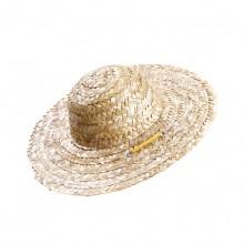 Pet Primary Color Retro Farmer Straw Hat
