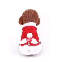 Angel Wings Christmas Red Pet Costume