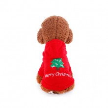 Merry Christmas Christmas Tree Red  Pet Hoodie