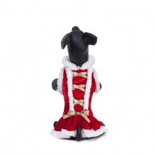 Christmas Bandage Bow Red Pet Dress