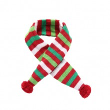 Christmas Green Red Stripes Pet Scarf