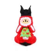 Red Christmas Snow Elves Cotton Velvet Pet Clothes Transfiguration