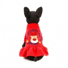 Red Cupid Elk Cotton Princess Dress Pet Clothes