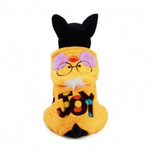 Yellow Meng Face Small Duck Coral Cashmere Four-Legged Pet Clothes
