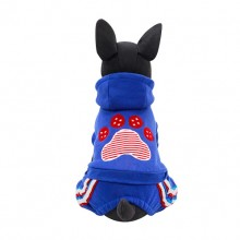 Blue Chubby Ball Fleece Sweater Four Feet Dog Pet Clothes