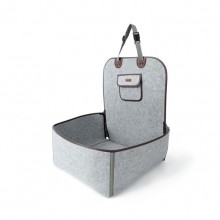 American Retro Gray Felt Cloth Pet Vice Seat Cushion