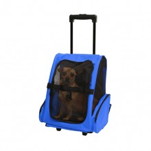 Strengthened Out Portable Pet Blue Pull Rod Backpack