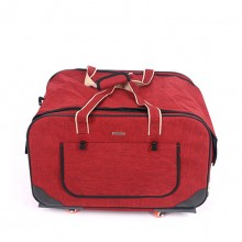 Foldable Four Wheel Red Multi-functional Pet Trolley Case