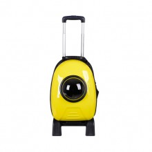 Yellow Capsule Pet Trolley Bag