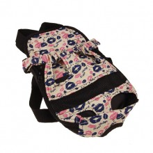 Two Color Lip Prints Pet Chest Bag Backpack