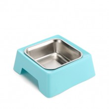 Blue Square Non-slip Environmentally Friendly Pet Bowls