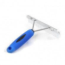 Blue Rubber Handle Rake Pet Comb