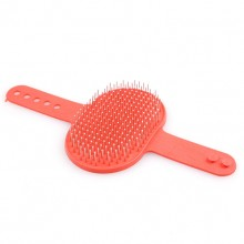 Pet Red Steel Needle Bathe Massage Brush