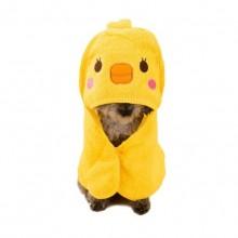 Yellow Cartoon Cotton Towel Pet Dog Bath Towel