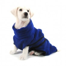 Blue Microfiber Bath Towel Pet Towel Water Bathrobe