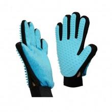 Blue Silicone Soft Brush Bath Brush Pet Massage Gloves