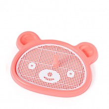 Pink Bear-shaped Pet Toilet With Columns