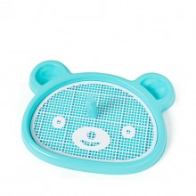 Blue Bear-shaped Pet Toilet With Columns