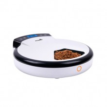White Intelligent Automatic Timer Feeding Cat Dog Feeder