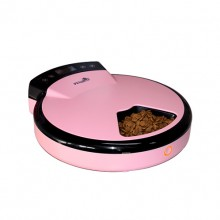 Pink Intelligent Automatic Timer Feeding Cat Dog Feeder