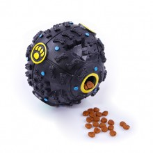Dog Black PVC Able To Leak Food And Make A Sound Of The Ball