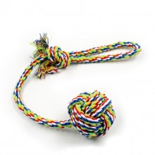 Pet Multicolor Cotton Rope Long Tail Ball Toys