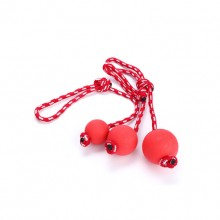 Pet Dog Red Rubber Wear Rope Ball Toy Ball