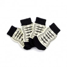 Black And White Pet Dog Feet Set Antiskid Socks