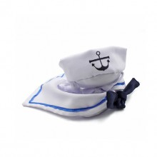 Pet White Navy Style Hat And Cape