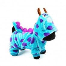 Blue Flannel Bubble Dragon Pet Clothes