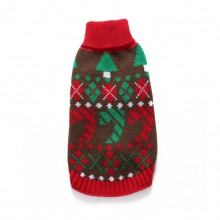 Pet Christmas Red Turtleneck Sweater