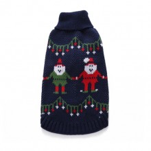 Pet Christmas Navy Blue Turtleneck Sweater