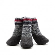 Pet Terry Cotton Gray Waterproof And Non-slip Socks
