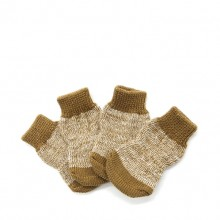 Pet Cotton Brown Non-slip Socks