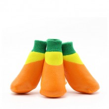 Pet Cotton Orange Waterproof And Non-slip Socks