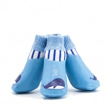 Pet Cotton Blue Whale Waterproof And Non-slip Socks