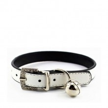Fine Sheep Skin White Pet Bell Pet Collar