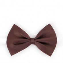 Solid Brown Pet Bow Tie
