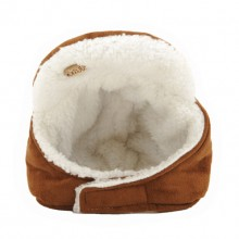 Pet Suede Brown Warm Lei Feng Hat