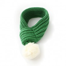 Pet Fluff Ball Cotton Green Warm Scarf