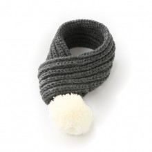 Pet Fluff Ball Cotton Gray Warm Scarf