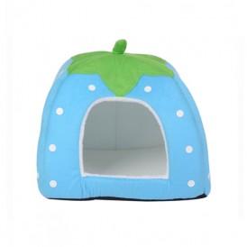 Blue Strawberry Top Removable Warm Velvet Pad